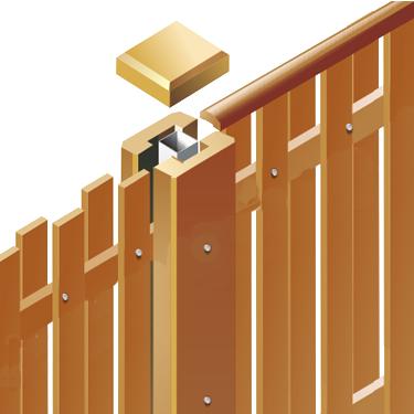 Как сделать своими руками деревянный забор шахматка 94